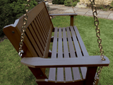 Highwood Lehigh Porch Swing Weathered Acorn - Magnolia Porch Swings  - 2