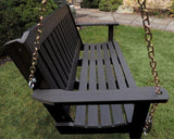 Highwood Lehigh Porch Swing in Black - Magnolia Porch Swings  - 2