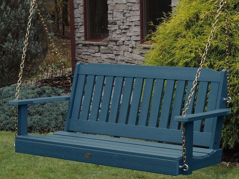 Highwood Lehigh Poly Porch Swing Nantucket Blue