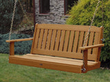 Highwood Lehigh Porch Swing in Toffee - Magnolia Porch Swings  - 1