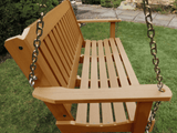Highwood Lehigh Porch Swing in Toffee - Magnolia Porch Swings  - 2