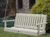 Highwood Lehigh Porch Swing in Whitewash - Magnolia Porch Swings  - 1