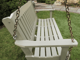 Highwood Lehigh Porch Swing in Whitewash - Magnolia Porch Swings  - 2