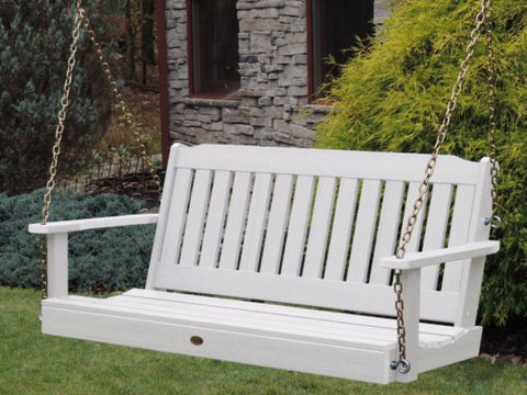Highwood Lehigh Porch Swing in White - Magnolia Porch Swings  - 1