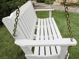 Highwood Lehigh Porch Swing in White - Magnolia Porch Swings  - 2
