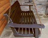 Highwood Weatherly Porch Swing in Weathered Acorn - Magnolia Porch Swings  - 2