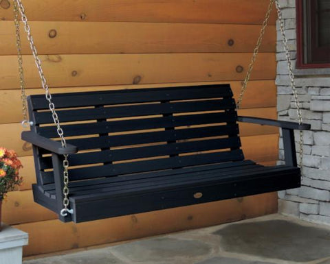 Highwood Weatherly Porch Swing in Black - Magnolia Porch Swings  - 1