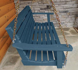 Highwood Weatherly Poly Porch Swing in Nantucket Blue