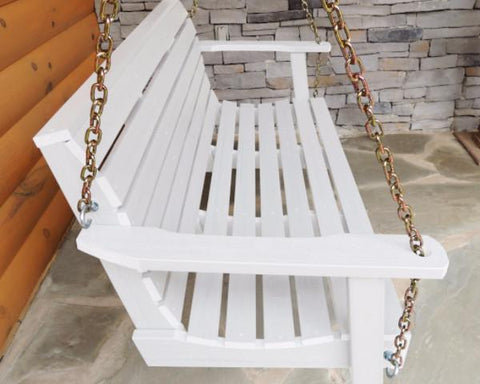 Highwood Weatherly Poly Porch Swing in White – Magnolia Porch Swings