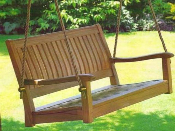Curved Back 4 Foot Teak Outdoor Porch Swing Magnolia