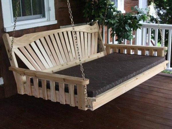 Fanback Red Cedar Swing Bed A Amp L Furniture Magnolia Porch