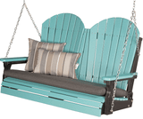 LuxCraft Adirondack Poly / Synthetic / Eco-Friendly Porch Swing - 4 Foot - Magnolia Porch Swings  - 1