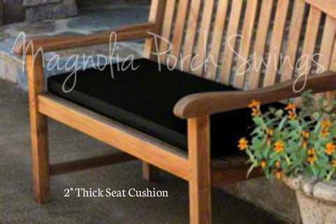 Custom Bench Cushion for Curved Back Teak Swing