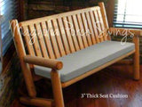 Curved-Back 4 Foot Teak Outdoor Porch Swing