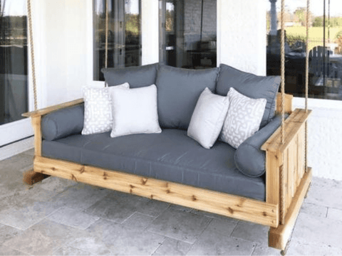 Chalet View Porch Swing Bed