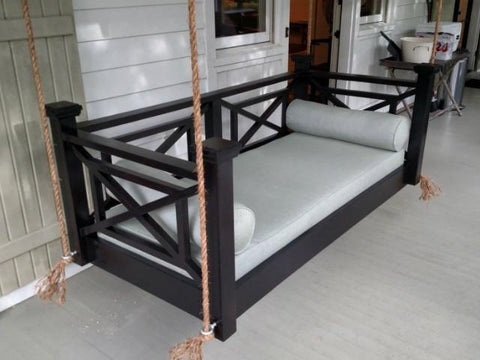 Custom Carolina Classic Columbia Swing Bed - Magnolia Porch Swings  - 4
