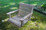 LA Cypress 2 foot Roll Back Porch Swing - Magnolia Porch Swings  - 1
