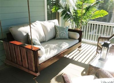 Magnolia   The Daniel Island Swing Bed   Magnolia Porch Swings   2 Great Pictures