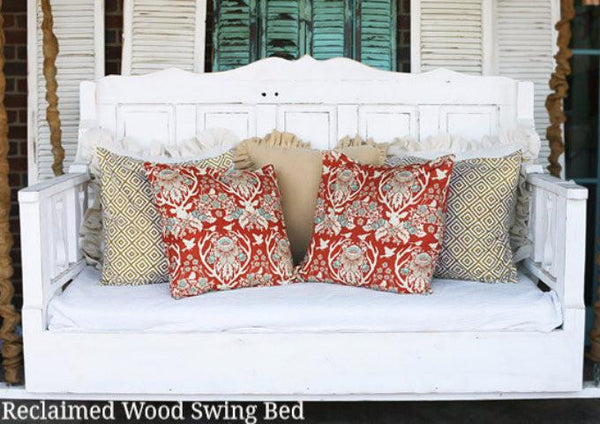 HammMade Reclaimed Wood Swing Bed - Magnolia Porch Swings  - 1