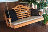 A&L Furniture Marlboro Red Cedar Porch Swing 371C 372C 373C - Magnolia Porch Swings  - 3