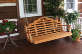 A&L Furniture Marlboro Red Cedar Porch Swing 371C 372C 373C - Magnolia Porch Swings  - 2