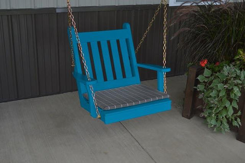 A&L Furniture Traditional English Pine Chair Swing 401 - Magnolia Porch Swings