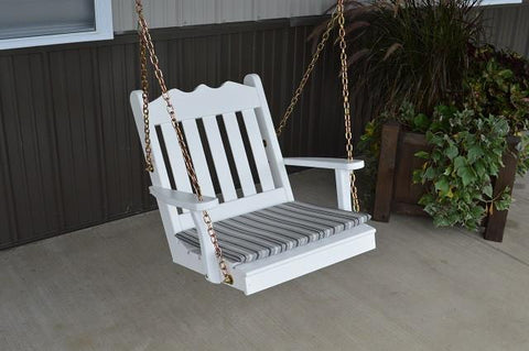 A&L Furniture Royal English Garden Pine 2 Foot Chair Swing 411 - Magnolia Porch Swings