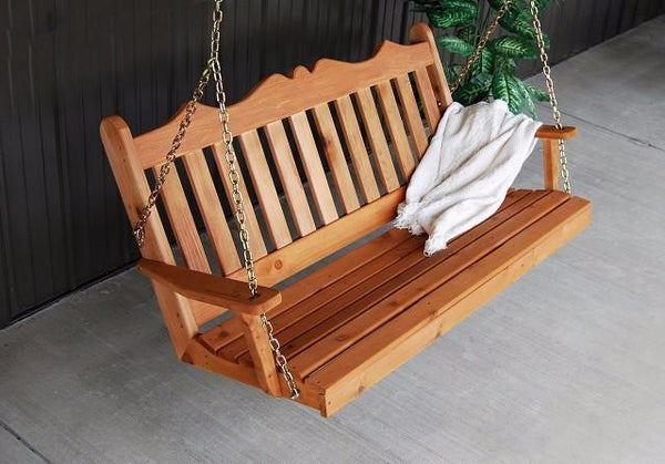 A&L Furniture Royal English Red Cedar Garden Swing 412C 413C 414C - Magnolia Porch Swings  - 1