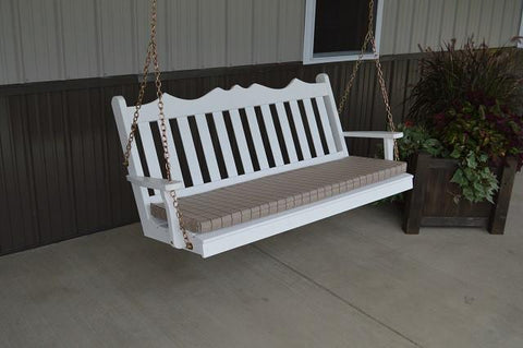 A&L Furniture Royal English Garden Pine Swing 412 413 414 - Magnolia Porch Swings  - 1
