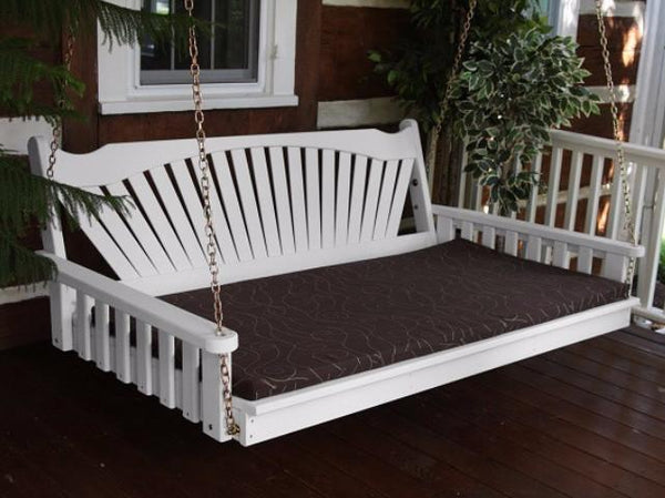 Fan Back Pine Swing Bed By A Amp L Furniture Magnolia Porch