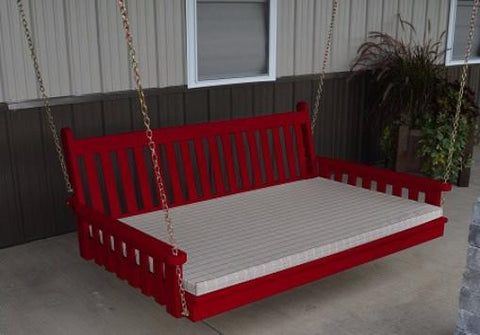 "A&L Furniture Traditional English Pine Swing Bed 75"" Twin 456 - Magnolia Porch Swings  - 1"