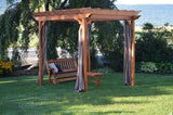 A&L Furniture Cedar Pergola w/ Optional Curtains 700c 701c 702c - Magnolia Porch Swings  - 7