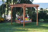 A&L Furniture Cedar Pergola w/ Optional Curtains 700c 701c 702c - Magnolia Porch Swings  - 1