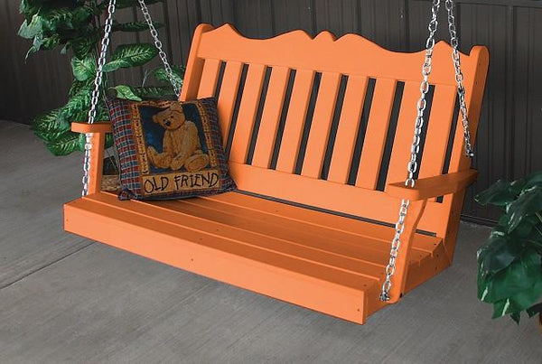 A&L Furniture Royal English Garden Poly/Recycled Plastic Swing 865 866 - Magnolia Porch Swings  - 1
