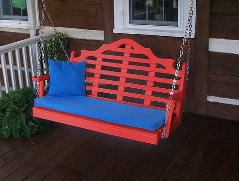 A&L Furniture Marlboro Poly/Recycled Plastic Swing 867 868 - Magnolia Porch Swings  - 1