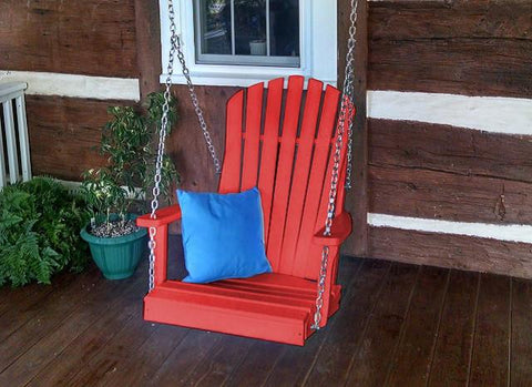 A&L Furniture Adirondack Chair Swing -- Poly/Recycled Plastic - Magnolia Porch Swings  - 6