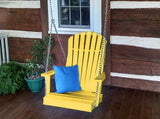 A&L Furniture Adirondack Chair Swing -- Poly/Recycled Plastic - Magnolia Porch Swings  - 9