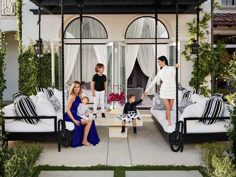Magnolia Signature Hanging Bed - as Khloe Kardashian's Bed Swing Design