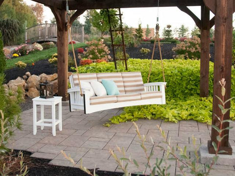... Mission Sofa Style Rope Swing By Hershyway   Magnolia Porch Swings   ...