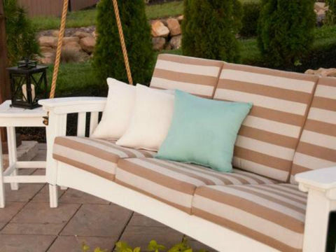 Mission-Style Deep Seating Cypress Porch Swing with Cushions