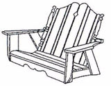 Uwharrie Chair Co. 2-Person Nantucket Porch Swing - Magnolia Porch Swings  - 2