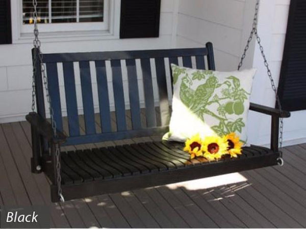 Dixie Seating Co. Asheboro 4 Foot Porch Swing - Magnolia Porch Swings  - 2