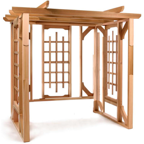 All Things Cedar Red Cedar Swing Pergola - Magnolia Porch Swings  - 1