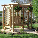 All Things Cedar Red Cedar Pergola & Swing Set - Magnolia Porch Swings  - 2