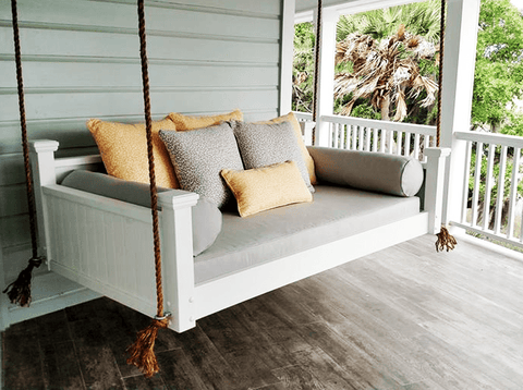 Custom Carolina Southern Savannah Swing Bed   Magnolia Porch Swings   1