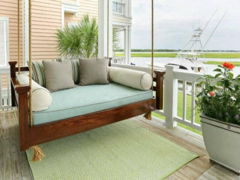 Custom Carolina Elegant Charleston Swing Bed - Magnolia Porch Swings  - 1