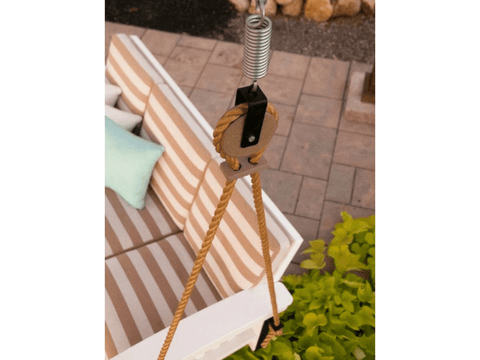 Mission Style Porch Swing Hanging Assembly