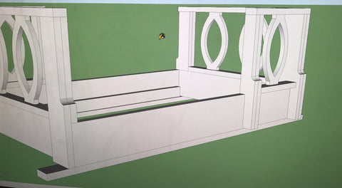 Custom Swing Bed -- Modified Oval Motif Railings