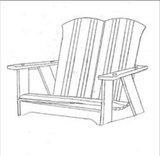 Uwharrie Chair Co. Carolina Porch Swing - Magnolia Porch Swings  - 2