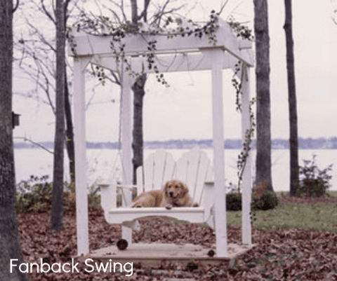 Uwharrie Chair Co. Fanback Porch Swing - Magnolia Porch Swings  - 1